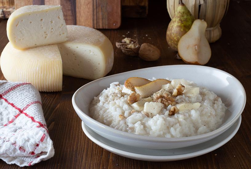 Risotto al tomello Giambrone con pere e noci | Fattoria Giambrone