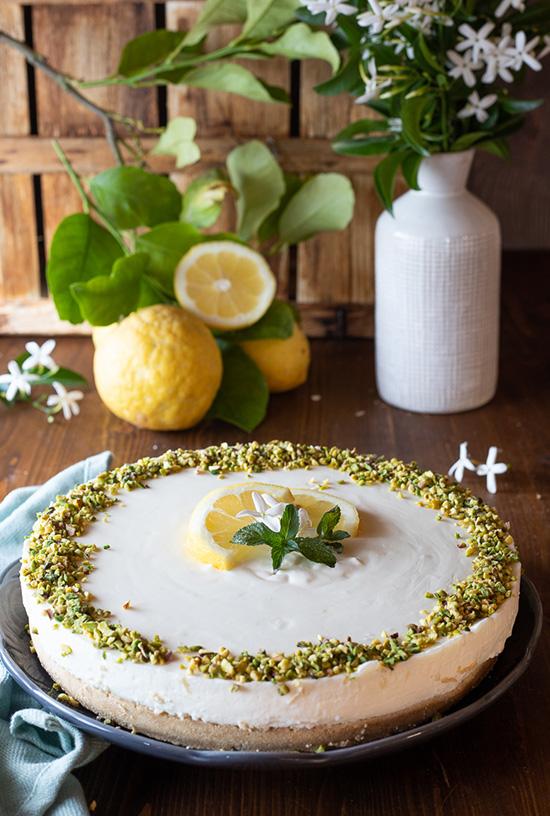 Cheesecake al limone con yogurt Giambrone   Fattoria Giambrone