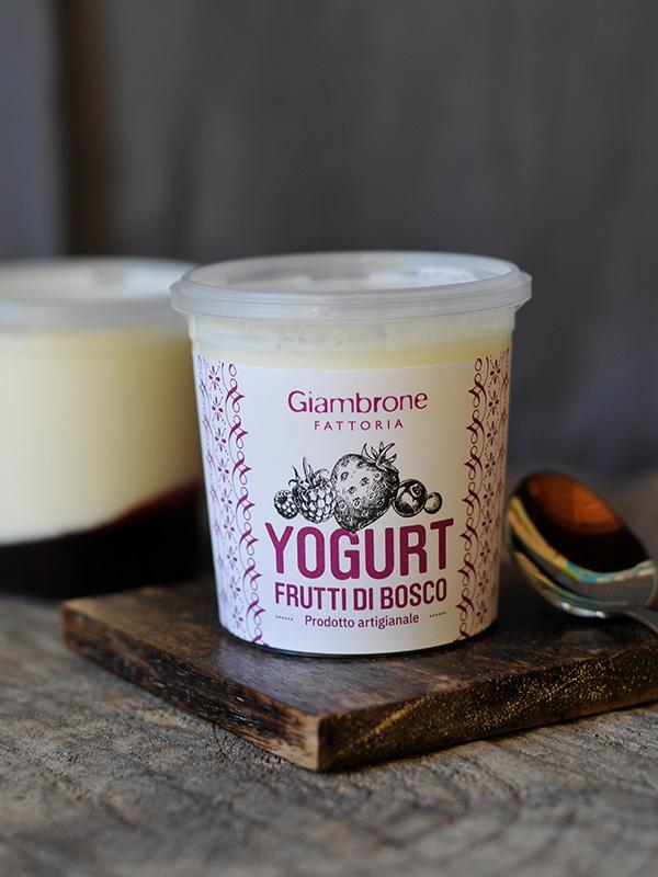 Yogurt Frutti di bosco   Fattoria Giambrone   CAMMARATA — SICILIA ITALIA